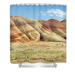 Painted Hills Pano 1 Shower Curtain by Jerry Fornarotto