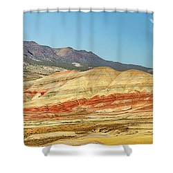 Painted Hills Pano 2 Shower Curtain by Jerry Fornarotto