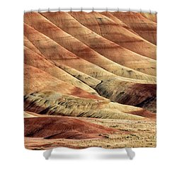 Painted Hills Textures Shower Curtain by Jerry Fornarotto