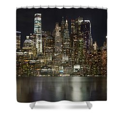 Painted Lights Shower Curtain