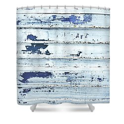 Painted Metal Surafce Shower Curtain