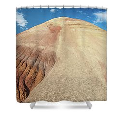 Painted Mound Shower Curtain by Greg Nyquist