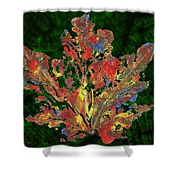 Shower Curtain featuring the painting Painted Nature 1 by Sami Tiainen
