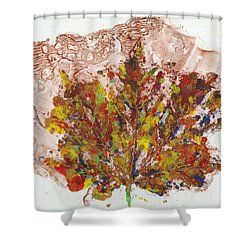 Shower Curtain featuring the painting Painted Nature 3 by Sami Tiainen