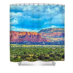 Painted New Mexico Shower Curtain