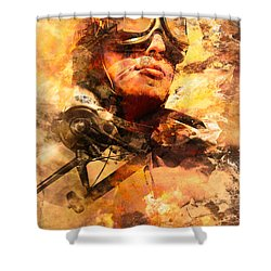 Shower Curtain featuring the photograph Painted Pilots At War by Jorgo Photography - Wall Art Gallery