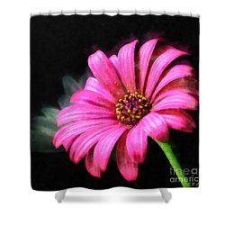 Painted Pink Shower Curtain by Elizabeth Coats
