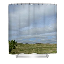 Shower Curtain featuring the photograph Painted Plains by JoAnn Lense