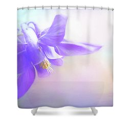 Painted Purple Columbine Shower Curtain