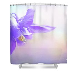Painted Purple Columbine Shower Curtain