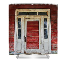Painted Red Shower Curtain by Lynn Jordan