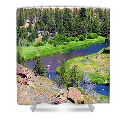 Shower Curtain featuring the photograph Painted River by Jonny D