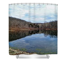 Shower Curtain featuring the photograph Painted Rock Conservation Area by Cricket Hackmann