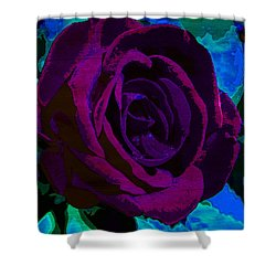 Painted Rose Shower Curtain