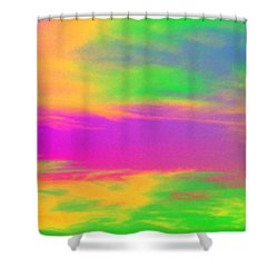 Painted Sky Shower Curtain by Linda Hollis