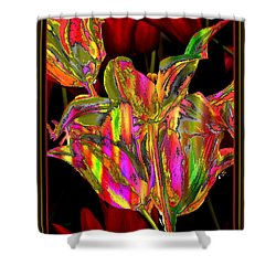Painted Tulips Shower Curtain