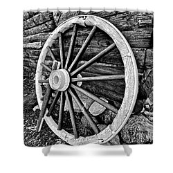 Painted Wagon Shower Curtain by Ed Boudreau