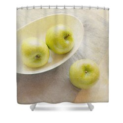 Painterly Apples Shower Curtain