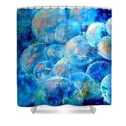 Painterly Bubbles Shower Curtain