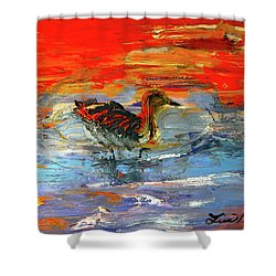 Painterly Escape II Shower Curtain by Lisa Kaiser