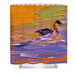 Painterly Escape Shower Curtain by Lisa Kaiser