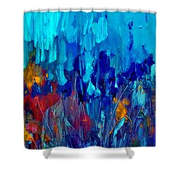 Painterly Garden Flowers Shower Curtain by Lisa Kaiser