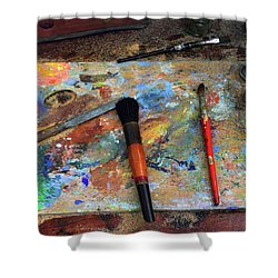 Shower Curtain featuring the photograph Painter's Palette by Jessica Jenney