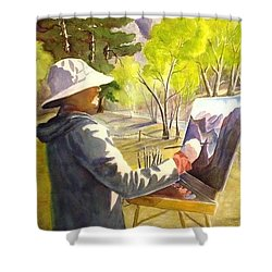 Painters Paradise Shower Curtain by Marilyn Jacobson