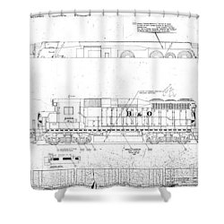 Painting And Lettering Diagramgp30 Shower Curtain