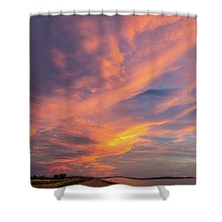 Painting By Sun Shower Curtain