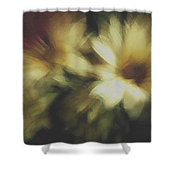 Painting Flowers Shower Curtain by Linda Sannuti