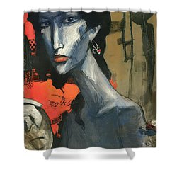 Painting Of The Lady _ 1 Shower Curtain by Behzad Sohrabi