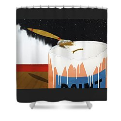 Painting Out The Sky Shower Curtain by Thomas Blood