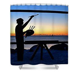 Painting The Perfect Sunrise Shower Curtain