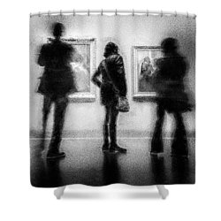 Paintings At An Exhibition Shower Curtain