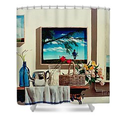 Paintings Within A Painting Shower Curtain