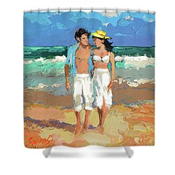 Pair By The Sea Shower Curtain