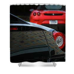 Shower Curtain featuring the photograph Pair Of Ferraris by Dennis Hedberg