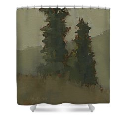 Pair Of Trees Shower Curtain