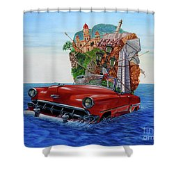 Paisaje Pasado Por Agua Shower Curtain by Jorge L Martinez Camilleri