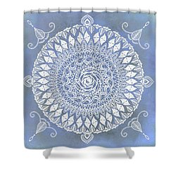 Paisley Moon Henna Mandala Shower Curtain