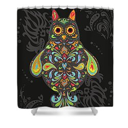 Paisley Owl Shower Curtain