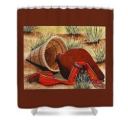 Paiute Baskets Shower Curtain by Jennifer Lake