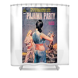Shower Curtain featuring the painting Pajama Party by Paul Rader