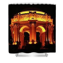 Palace Of Fine Arts - Dome At Night Shower Curtain