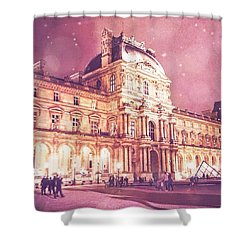Palais Du Louvre En Rose Shower Curtain by Aurella FollowMyFrench