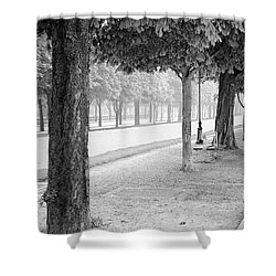 Shower Curtain featuring the photograph Palais Park by Dave Beckerman