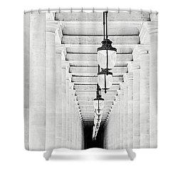 Palais-royal Arcade Black And White - Paris, France Shower Curtain