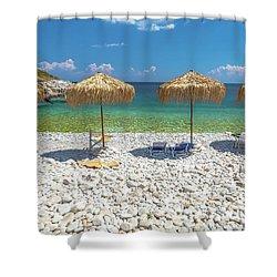 Palapa Umbrellas Shower Curtain