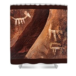 Palatki Pictographs9 Pnt Shower Curtain